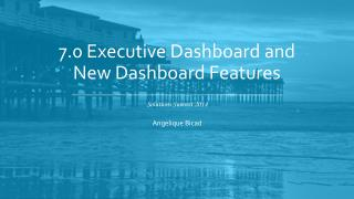 7.0 Executive  Dashboard and New Dashboard Features