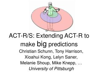 ACT-R/S: Extending ACT-R to make  big  predictions