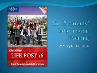 Yr 12 Parents' Information Evening