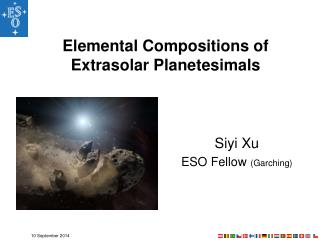 Elemental Compositions of Extrasolar Planetesimals