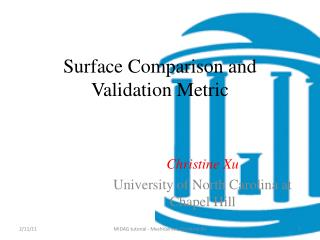 Surface Comparison and Validation Metric