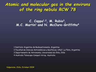 1 Instituto Argentino de Radioastronomía, Argentina