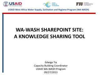 wa-wash  SHAREPOINT site: a  knowledge sharing tool