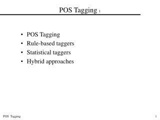 POS Tagging  1