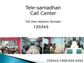 Tele-samadhan Call Center Toll free Helpline Number