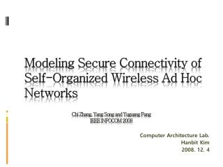 Modeling Secure Connectivity of Self-Organized Wireless Ad Hoc Networks