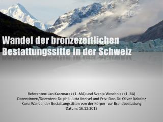 Wandel der bronzezeitlichen Bestattungssitte in der Schweiz