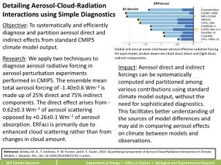 Detailing Aerosol-Cloud-Radiation  Interactions  using Simple Diagnostics