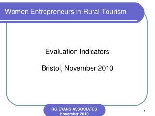 Women Entrepreneurs in Rural Tourism