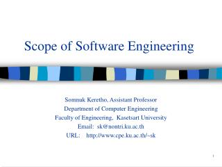Scope of Software Engineering