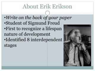 About Erik Erikson