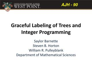 Graceful  Labeling  of  Trees  and  Integer Programming