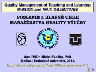 doc. RNDr. Michal Blaško, PhD. Košice: Technická univerzita, 2014.