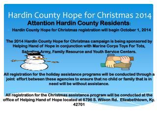 Hardin County Hope for Christmas 2014
