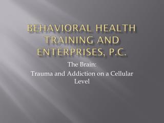 Behavioral Health Training and Enterprises, P.C.