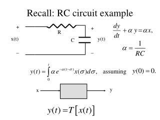 Recall: RC circuit example