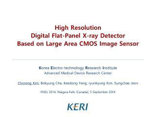 High Resolution  Digital Flat-Panel X-ray Detector  Based  on  Large  Area  CMOS Image Sensor