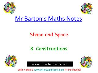 Mr Barton�s Maths Notes