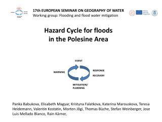 17th  EUROPEAN SEMINAR ON GEOGRAPHY OF WATER