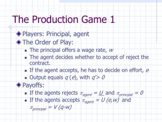 The Production Game 1