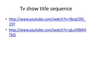 Tv  show title sequence