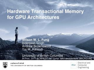 Hardware Transactional Memory  for GPU Architectures