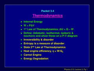 Packet 3.4 Thermodynamics
