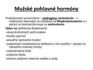 Mužské pohlavné hormóny