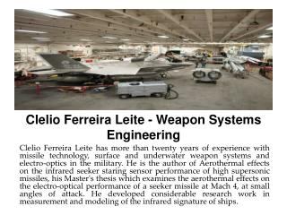 Clelio Ferreira Leite - Weapon Systems Engineering