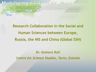 Research Collaboration in the Social and  Human Sciences between Europe,