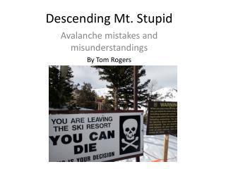 Descending Mt. Stupid