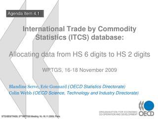 Blandine Serve, Eric Gonnard  ( OECD Statistics Directorate)