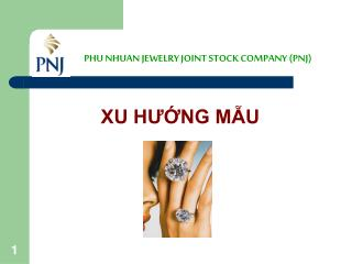 PHU NHUAN JEWELRY JOINT STOCK COMPANY (PNJ)
