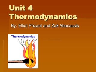 Unit 4 Thermodynamics