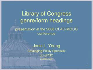 Library of Congress  genre/form headings