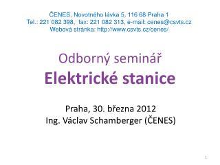 Odborný seminář Elektrické stanice