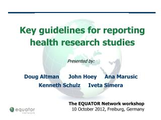 Key guidelines for reporting health research studies