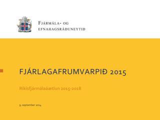 Fjárlagafrumvarpið  2015