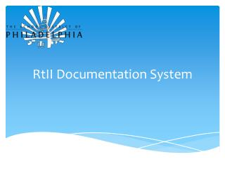 RtII  Documentation System