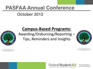 PASFAA Annual Conference October 2012