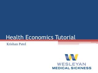 Health Economics Tutorial