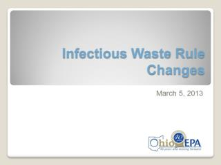 Infectious Waste Rule Changes