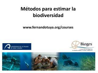 Métodos para estimar la biodiversidad fernandotuya/courses