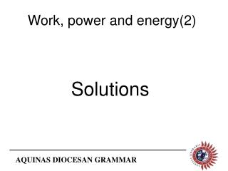 Work, power and energy(2)