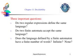 Chapter 11: Decidability