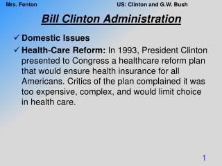 Bill Clinton Administration