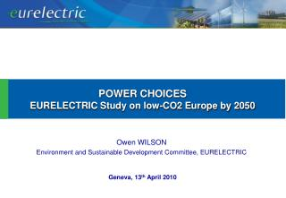 Owen WILSON Environment and Sustainable Development Committee, EURELECTRIC