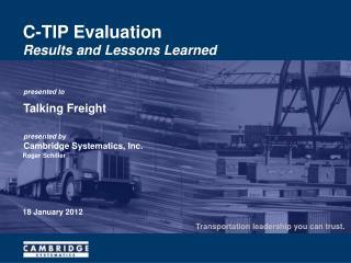 C-TIP Evaluation