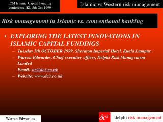Risk management in Islamic vs. conventional banking