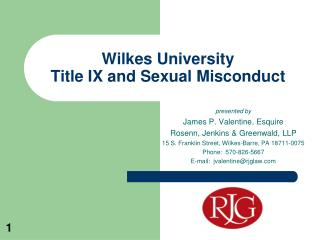 Wilkes University Title IX and Sexual Misconduct